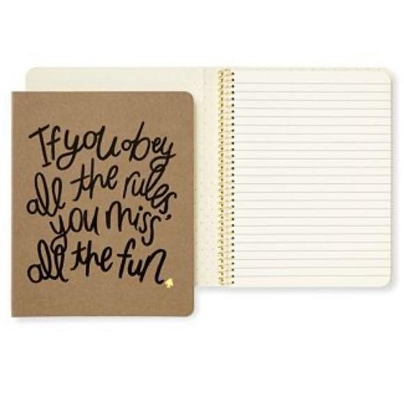 kate spade Other - 🆕 Kate Spade ♠️ Concealed Spiral Notebook